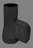 Rookgasventilator Isotube met inlaatpijp 200mm Zwart
