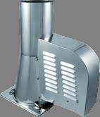 Rookgasventilator Isotube met vierkante basis 200mm