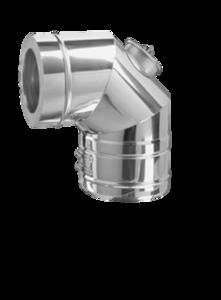 Dubbelwandig 150/215 mm bocht 90° met luik Hark Premium