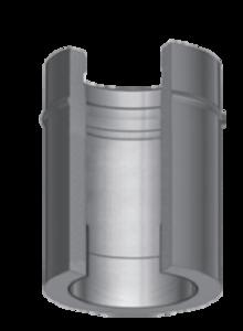 Dubbelwandig L=500 mm met nisbus 150/215 mm Hark Premium
