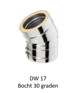 Dubbelwandig bocht 30° 180/245 mm Hark Premium