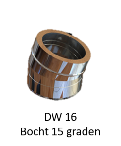 Dubbelwandig bocht 15° 200/265 mm Hark Premium