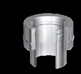 Onder-aansluitstuk dubbel-enkelwandig 200/265 mm Hark Premium