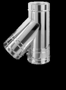 Dubbelwandig L=500 mmY-stuk 135° 250/315 mm Hark Premium