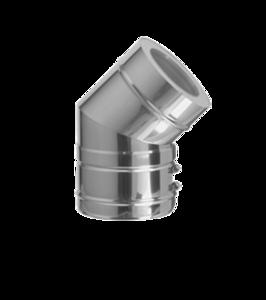Dubbelwandig bocht 45° 250/315 mm Hark Premium
