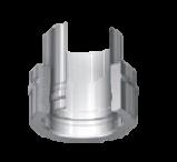 Boven-aansluitstuk dubbel-enkelwandig 150/215 mm Hark Premium