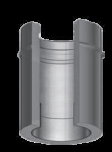 Dubbelwandig L=1000 mm met nisbus 150/215 mm Hark Premium